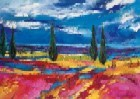 Colored Tuscany Landscape