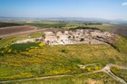 Arial View Of Tel Megiddo