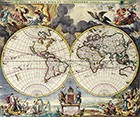Double Hemisphere Map Moses Pittc 1680