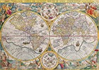 Double Hemisphere Map Petrus Planciusc 1599