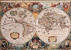 Double Hemisphere Map Henricus Hondiusc 1630