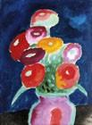 Blumen In Einer Vase, 1918