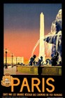 """Fountain"" Vintage Travel Poster"