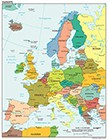 Political Map Of Europe With All Capitals