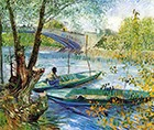 Fishing in Spring, Pont de Clichy, Paris 1887