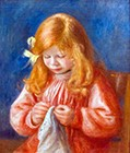 Jean Renoir Sewing, 1899/1900