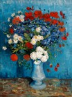Vase With Cornflowers And Poppies (1887)