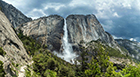 Yosemite Falls from trail