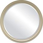 מראה עגולה כפתורים - שמנת