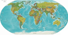 Political Physical Map of the World