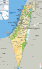 Physical Map Of Israel With Roads, Cities And Airports