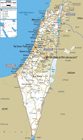 Detailed Roads Map Of Israel With Cities And Airports