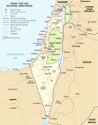Map Of Israel, Neighbours And Occupied Territories