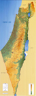 Israel Map - Hebrew