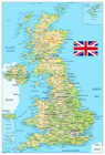 UK Physical Map
