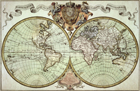 Old Map Of The World