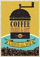 Coffee Postcard Design