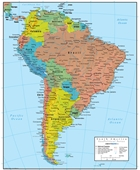 Political Map Of South America I