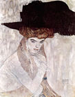 Woman with Black Feather Hat, 1910