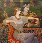 Queen Esther - original mixed media on canvas