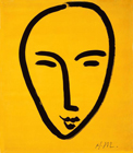 Face On Yellow Background