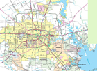 Houston Area Road Map