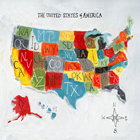 Colorful World Map of USA