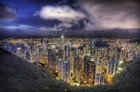 Hong Kong From The Peak On A Summer