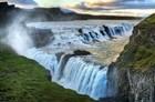 Alone At The Raging Waterfall Of Gulfoss