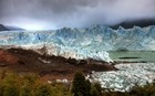 Approaching Ahe Glacier After A Stormy Sunrise