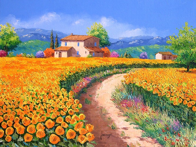 Sunflower path