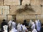 Jews Pray In The Western Wall