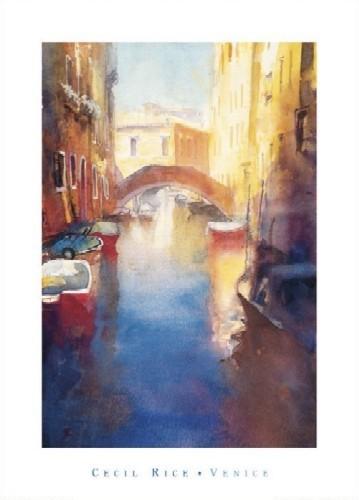 Canal With Orange Bridge