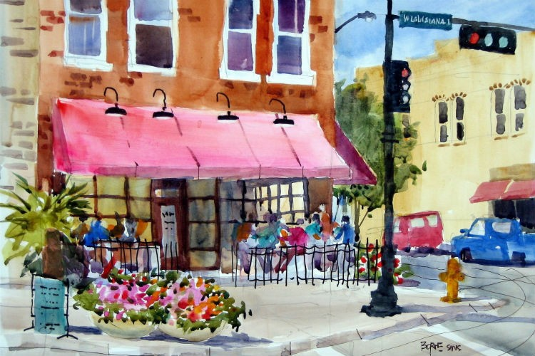 Coffee Shop Watercolor
