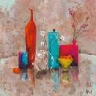 Interieur Avec Vase Turquoise