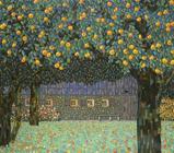 Fruit trees - Original mixed-media on canvas