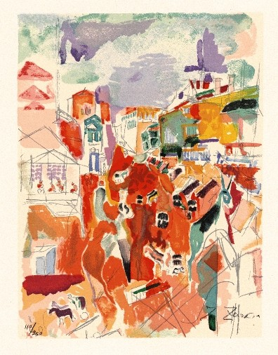 Downtown, Haifa, 1924 (S.G.) - Edition 280